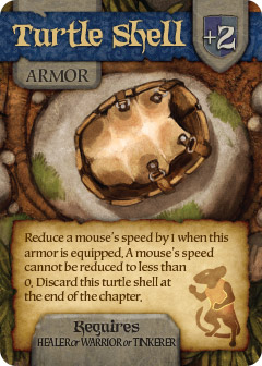 Turtle shell promo card