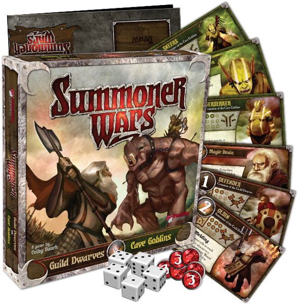 Summoner Wars Starter Set: Guild Dwarves vs. Cave Goblins