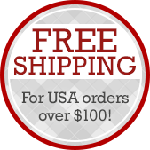 Free Shipping for USA orders over $100