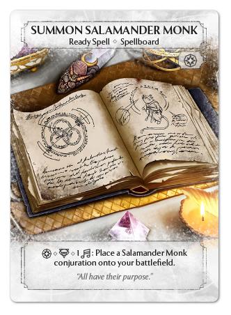 Summon Salamander Monk