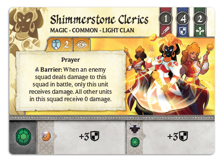 Shimmerstone Clerics