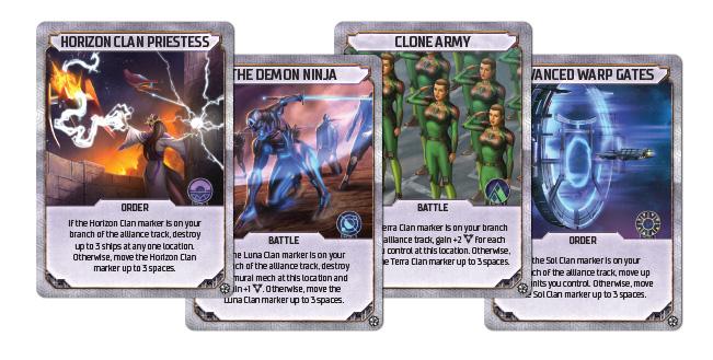 Clan Cards Spread