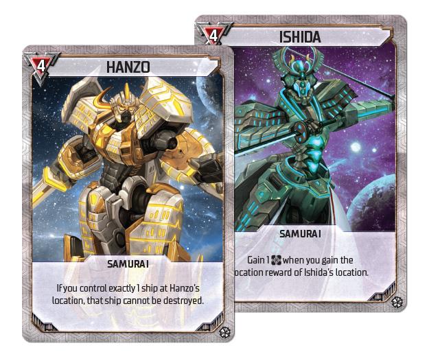 Shattered Alliances Samurai Cards