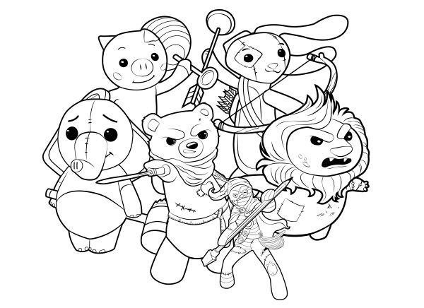 Stuffies Coloring Book